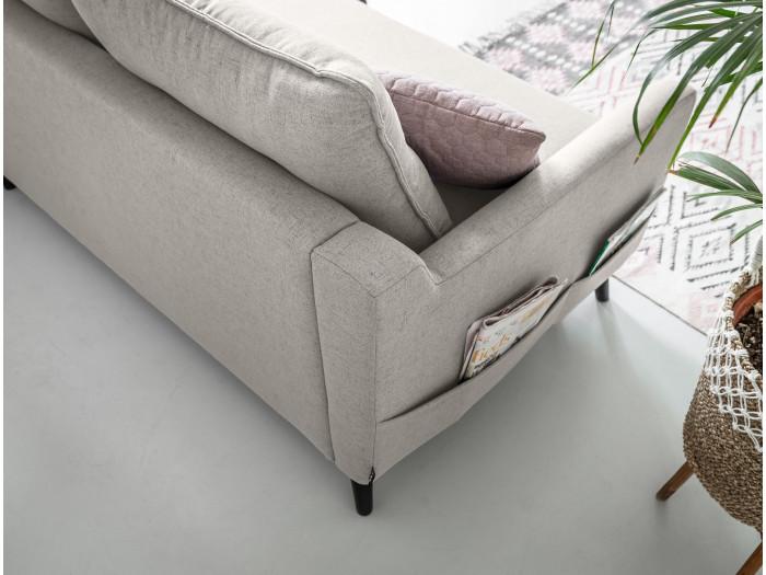 Canapé d'angle convertible coffre BERGAMO