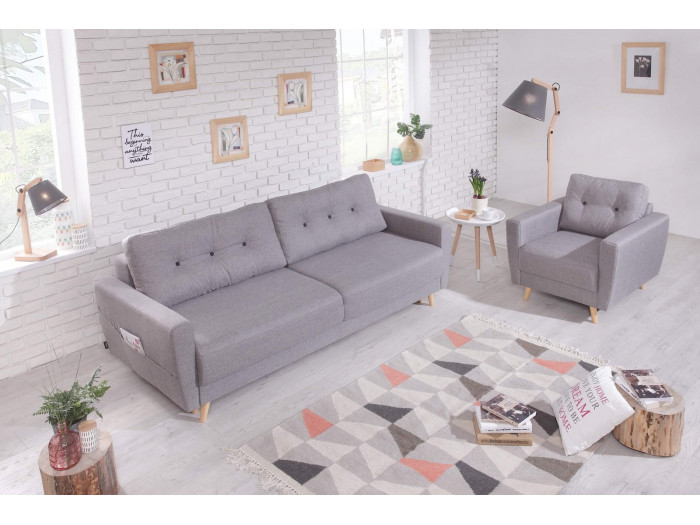 Sofa right SCANDI convertible