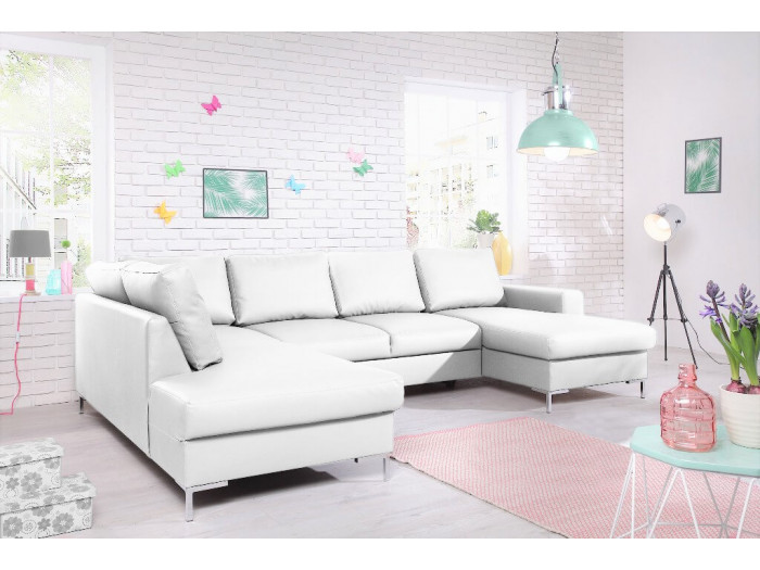 sofa imitation leather convertible panoramic with storage xxl lilly. Black Bedroom Furniture Sets. Home Design Ideas