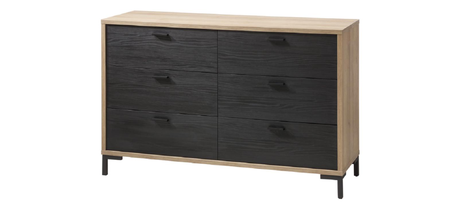 Commode 2x3 tiroirs ORONERO chambre