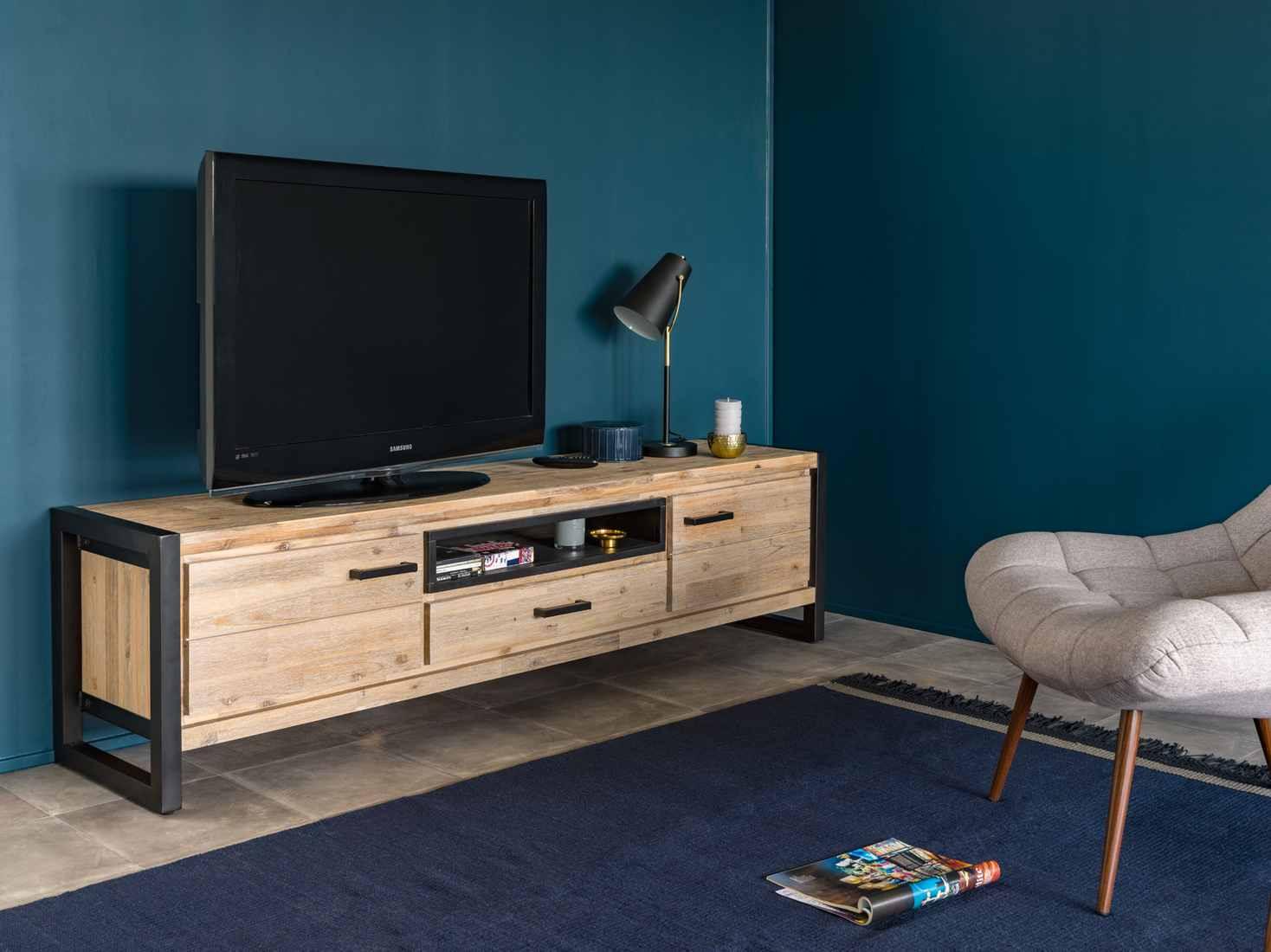 Tv Stand Zara Acacia Wood Bobochic