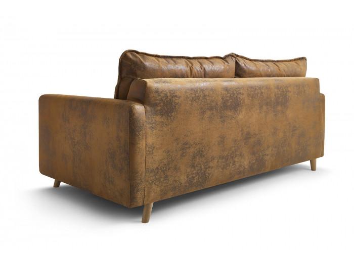 Canapé 3 places convertible tissu vintage ATHENAIS