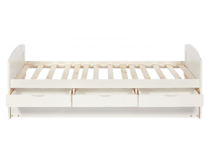 Lit tiroir en bois pin Myla