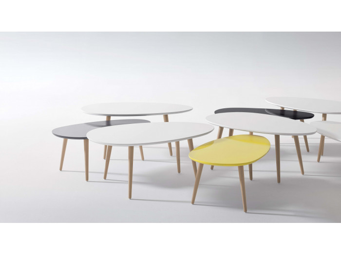 Tables Basses Gigognes Scandinaves - Lot de 2