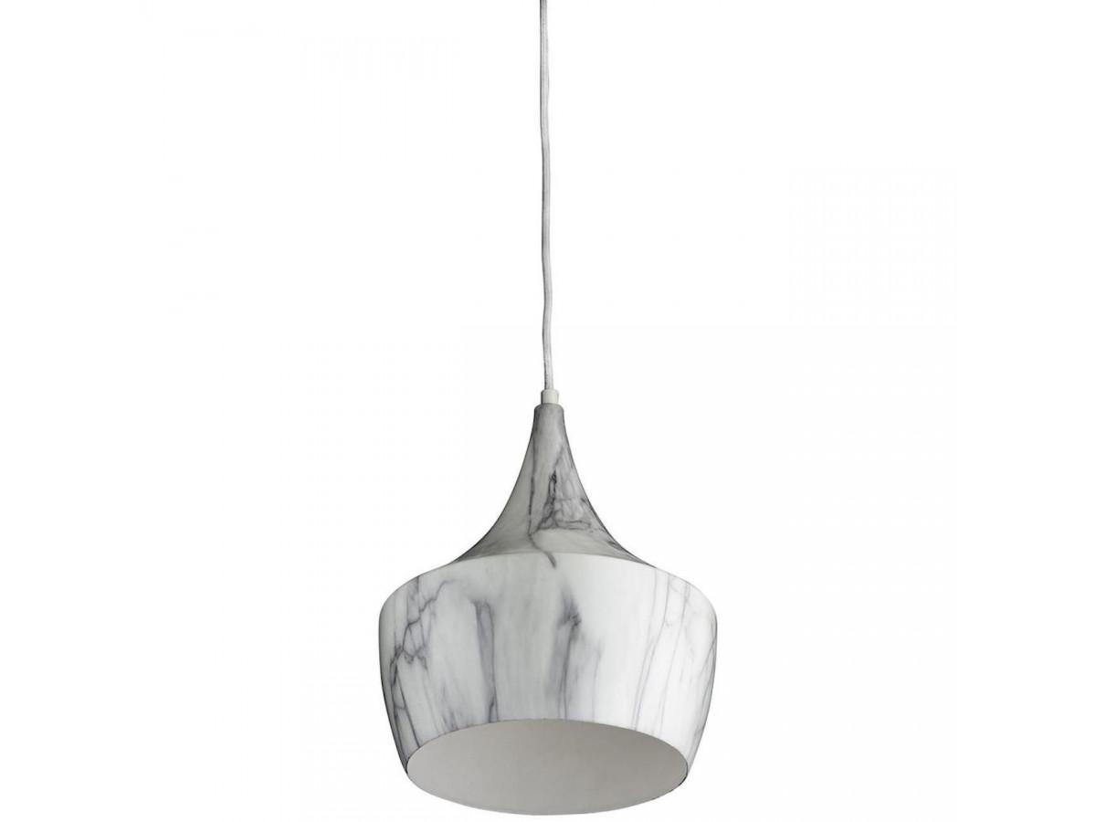 Suspension en métal effet marbre blanc/gris BOBOCHIC