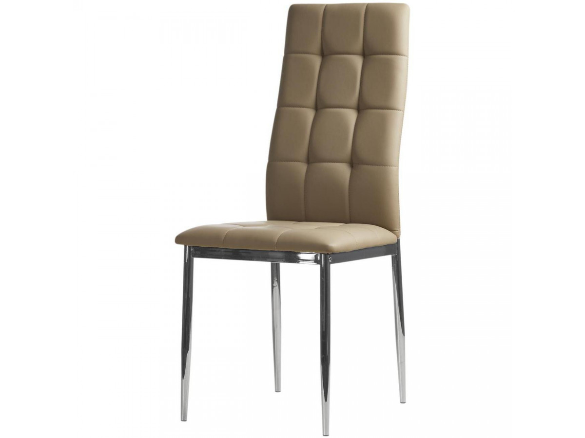 Lot de 4 chaises en cuir DEBORAH