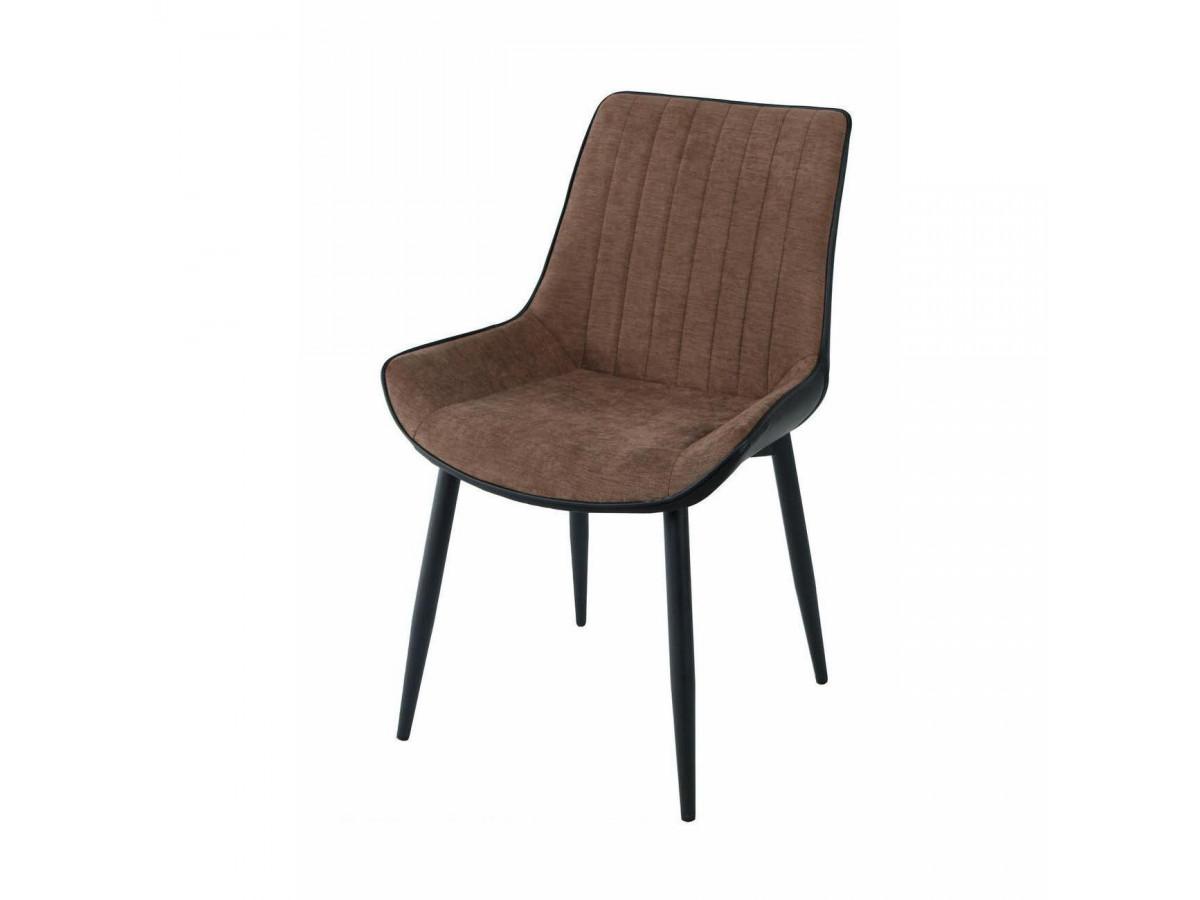Lot de 4 chaises élégantes bi-matières ST MORITZ