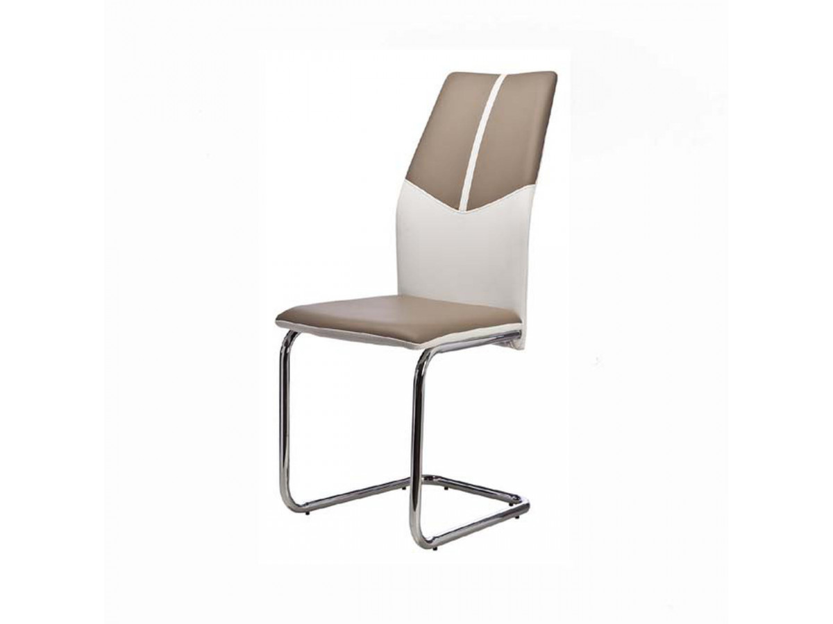 Lot de 4 chaises bicolor en cuir OCEANIA