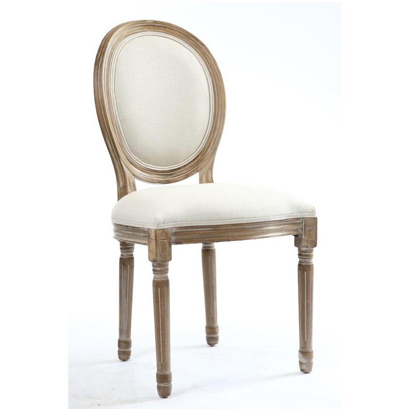 Lot de 2 chaises élégantes en lin JAK