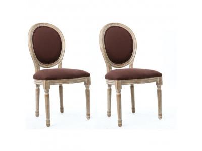 Lot of 2 chairs elegant linen JAK
