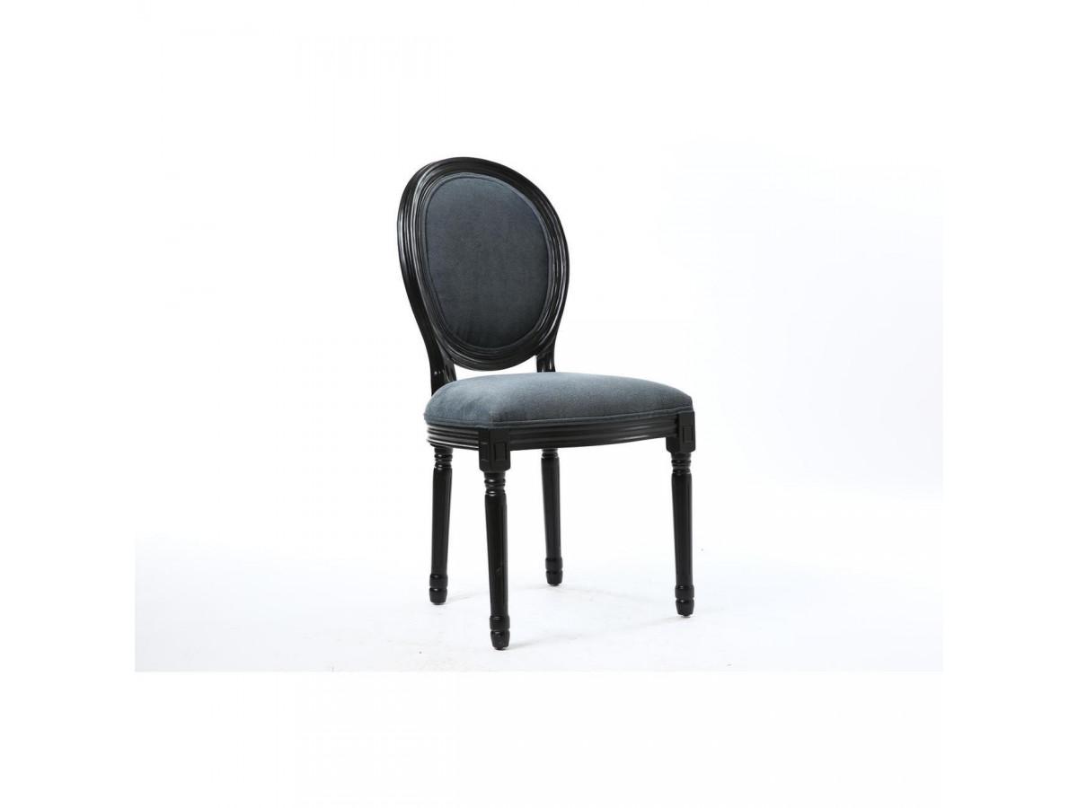 Lot of 2 chairs elegant velvet MEDALLION