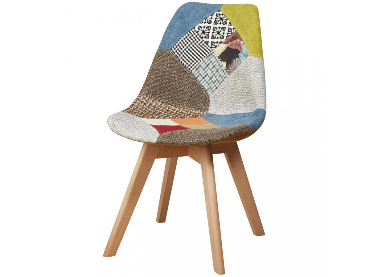 Lot of 4 chairs trend in patchwork ODDA
