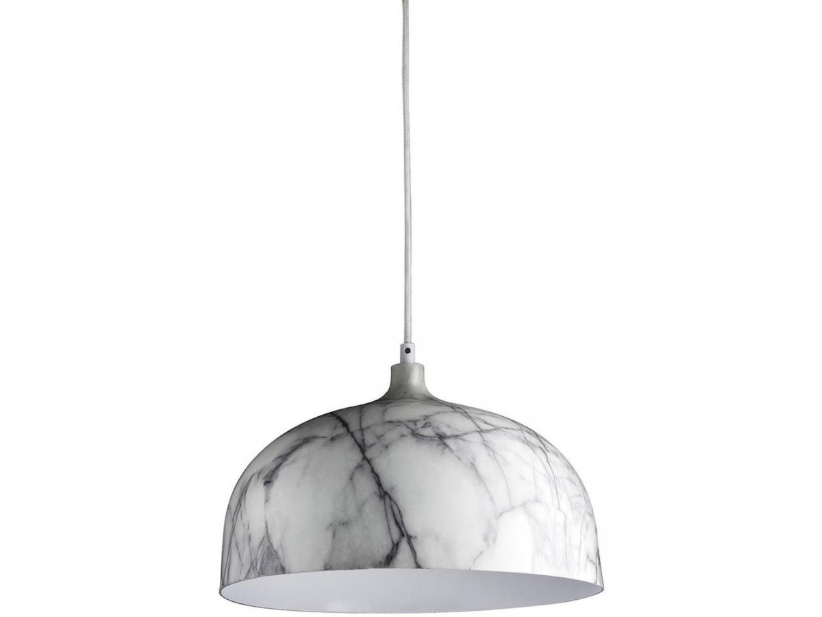 Suspension in metal effect white marble/grey BOBOCHIC
