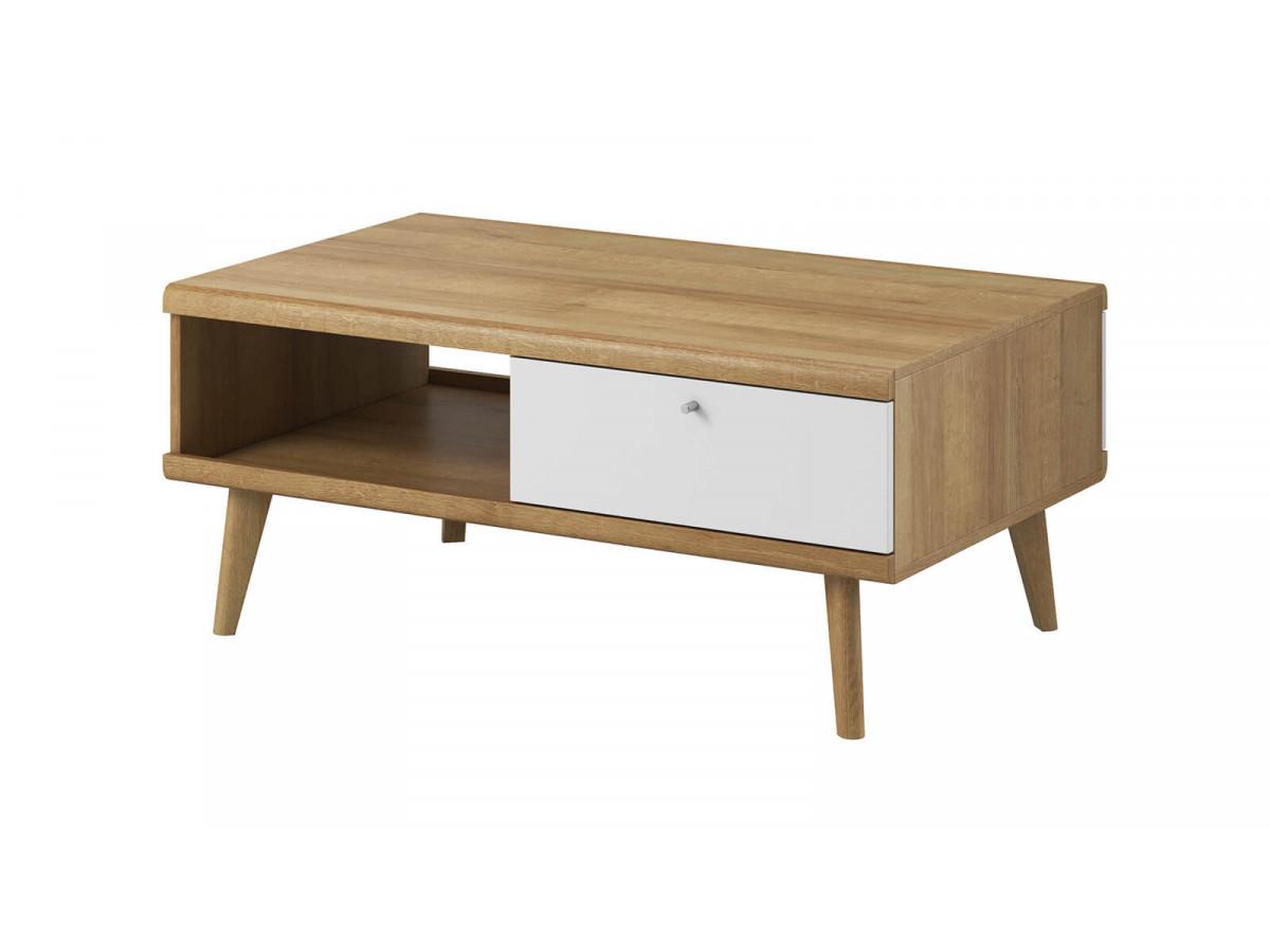 Coffee Table PRIMINO white and wood Subleem ®