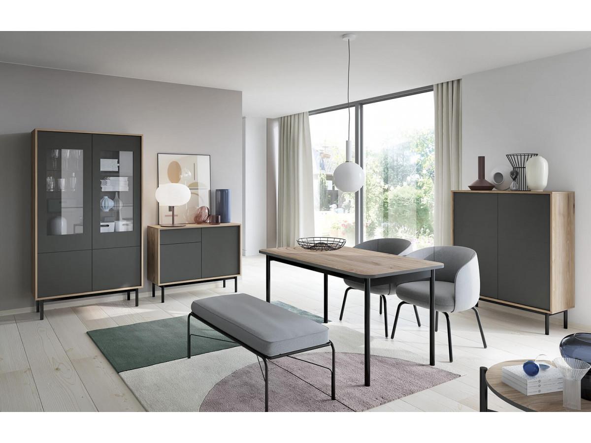 Table fixe BASIC grafit et bois clair Subleem ®