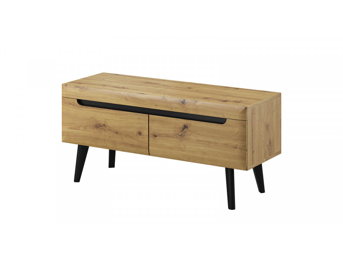 Tv stand NORDI RETRO black and oak Subleem ®