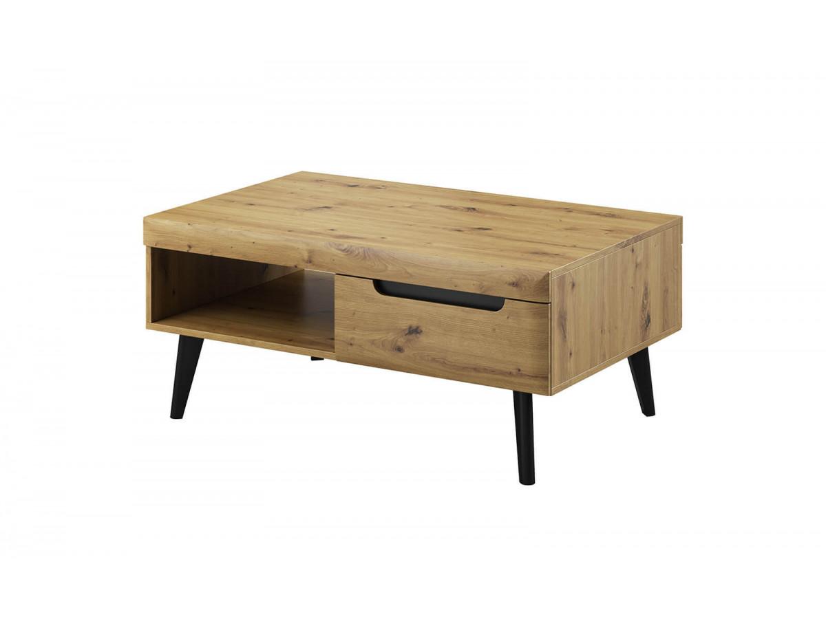 Coffee Table NORDI RETRO black and oak Subleem ®