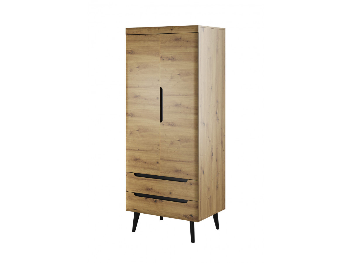 Wardrobe NORDI RETRO black and oak Subleem ®