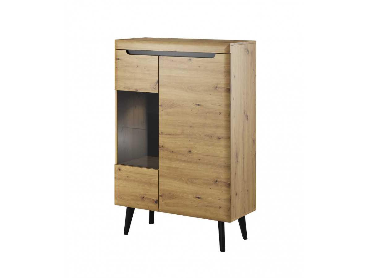 Showcase low NORDI RETRO black and oak Subleem ®