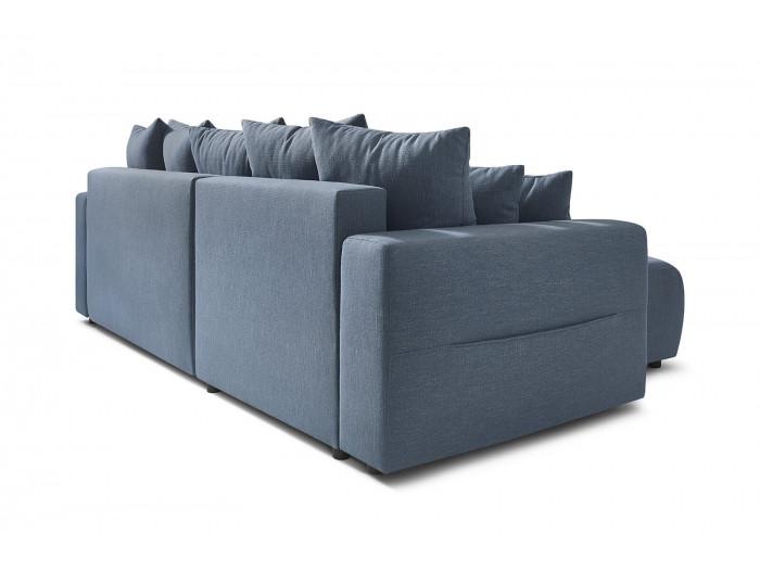 Canapé d'angle réversible convertible coffre ELVI