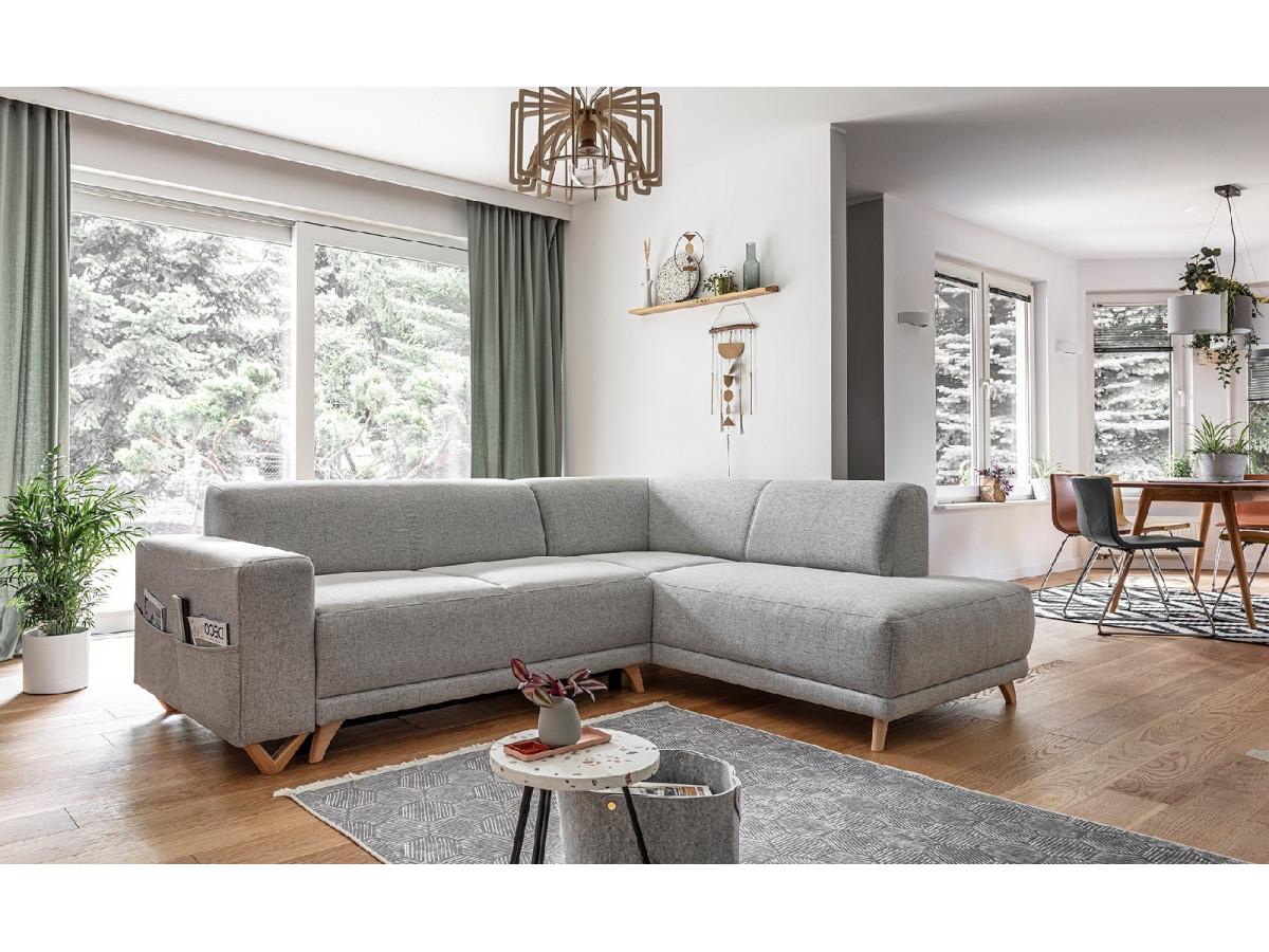 Corner sofa L convertible with hotel BELLA
