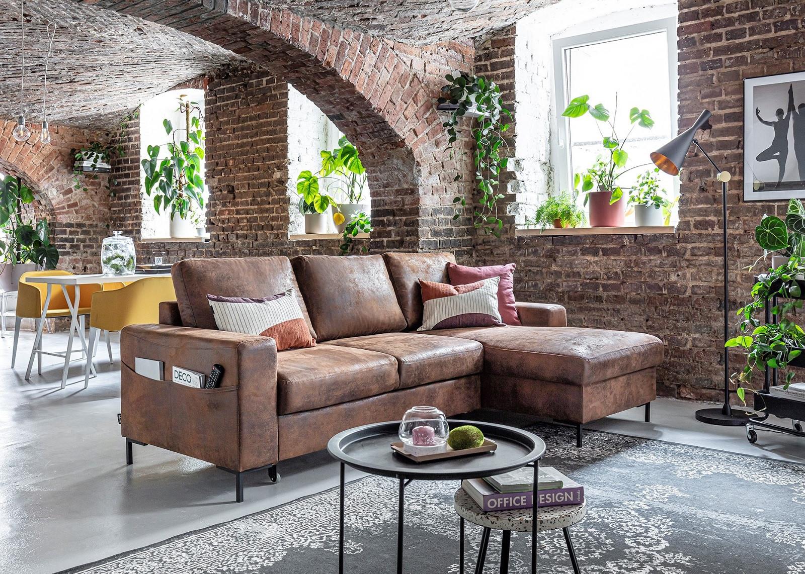 Maison Du Convertible Avis corner convertible sofa trunk vintage lilly | bobochic ®