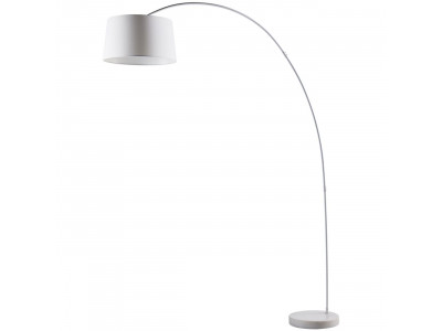 Floor lamp arc in metal