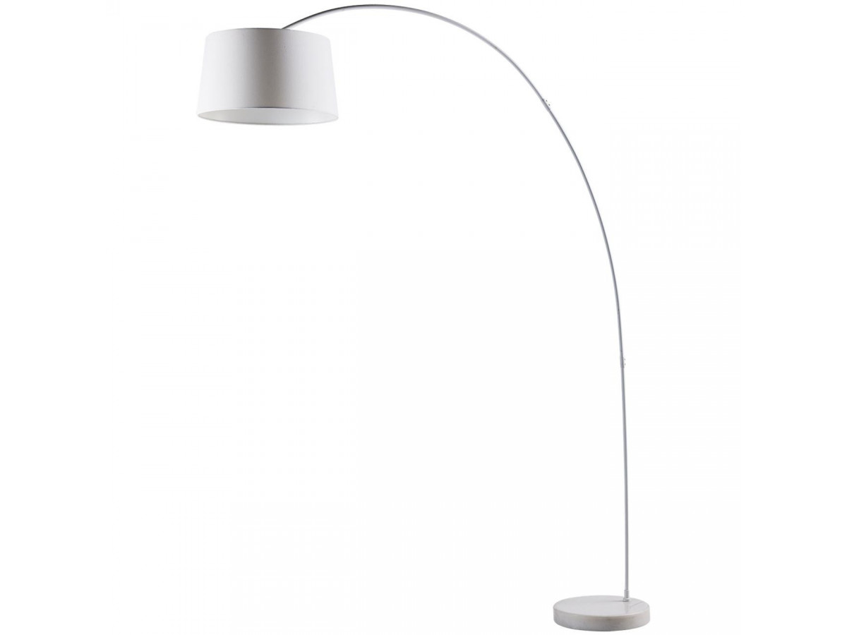 Floor lamp arc in metal