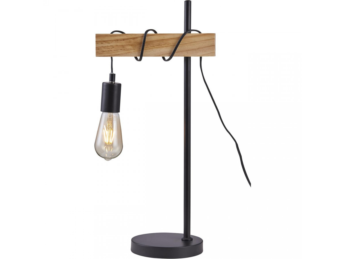 Lamp BRAGA black and wood