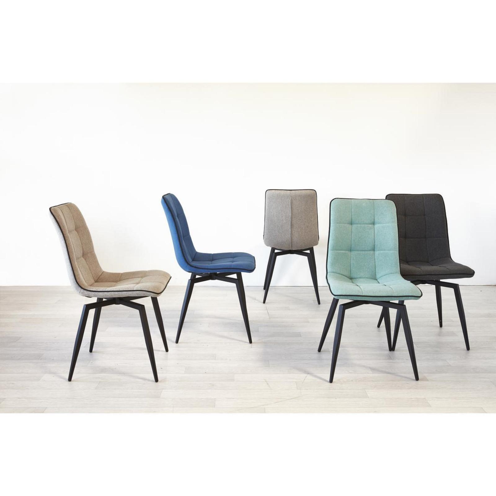 Quel Tissu Pour Chaise lot de 4 chaises nisso en tissu