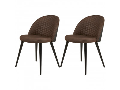 Lot de 2 chaises MARCELLO style retro vintage