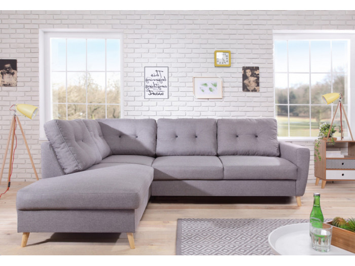 Canapé d'angle fixe Scandi L