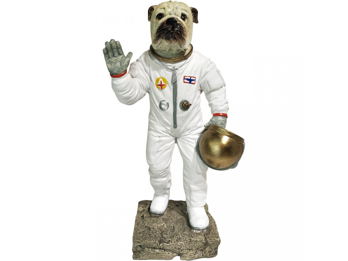 Statue Chien astronaute en polyresine Med2