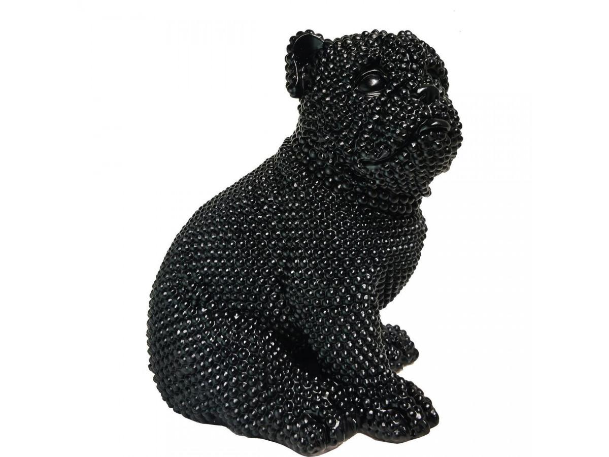 Statue elegante de chien en polyresine Rixi Noir3