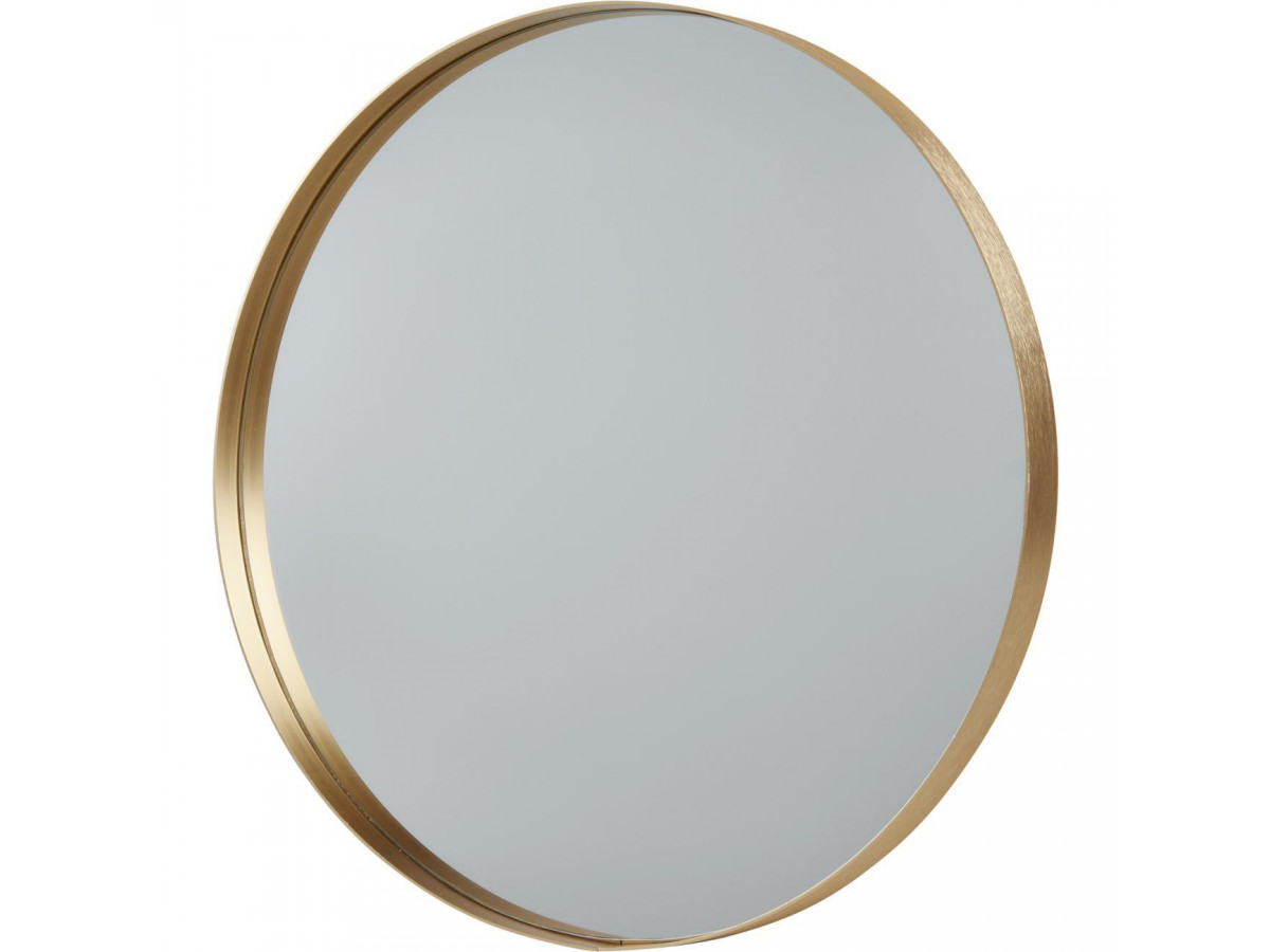 Miroir et tendance de forme ronde en aluminium Melk1