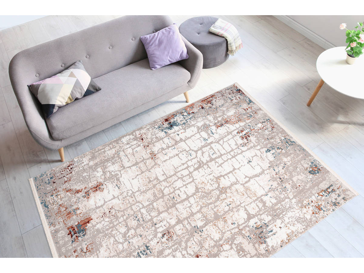 Tapis ARROW Gris / Rose saumon 80cm x 150cm1
