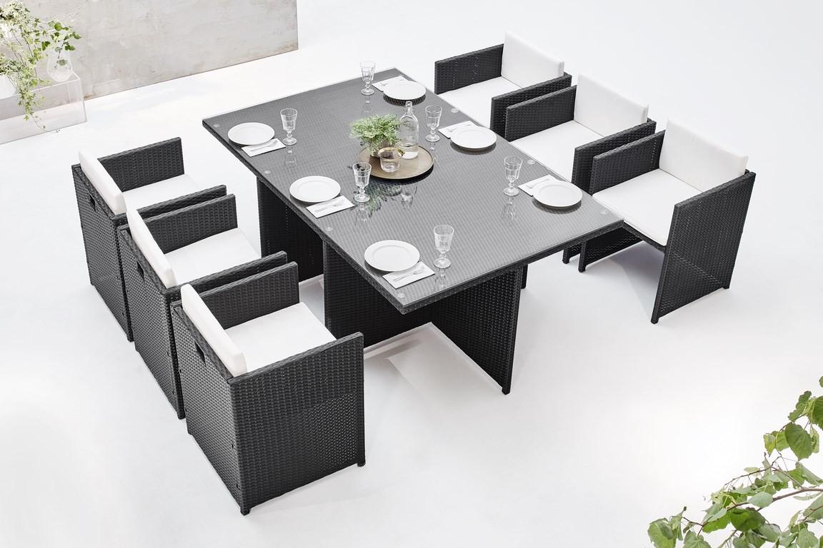 salon de jardin family 6 places bobochic. Black Bedroom Furniture Sets. Home Design Ideas