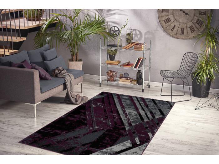 Tapis LUCIO Gris / Violet 160cm x 230cm