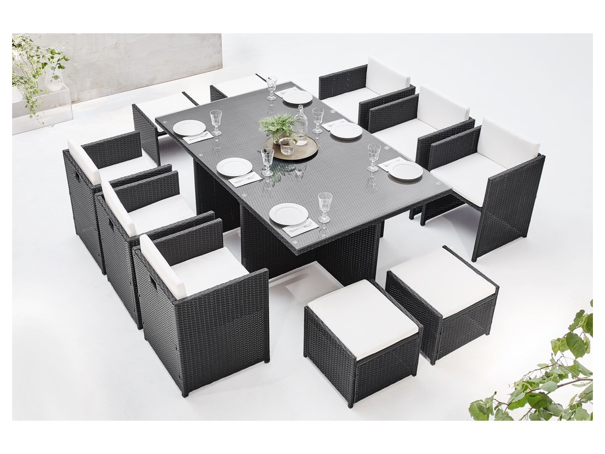 salon de jardin family 10 places bobochic. Black Bedroom Furniture Sets. Home Design Ideas