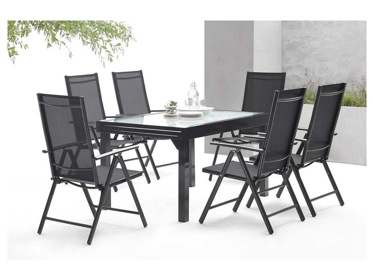 emejing table salon de jardin en alu gallery amazing. Black Bedroom Furniture Sets. Home Design Ideas