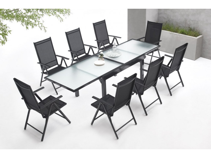 Garden furniture aluminium 8 seater Milano