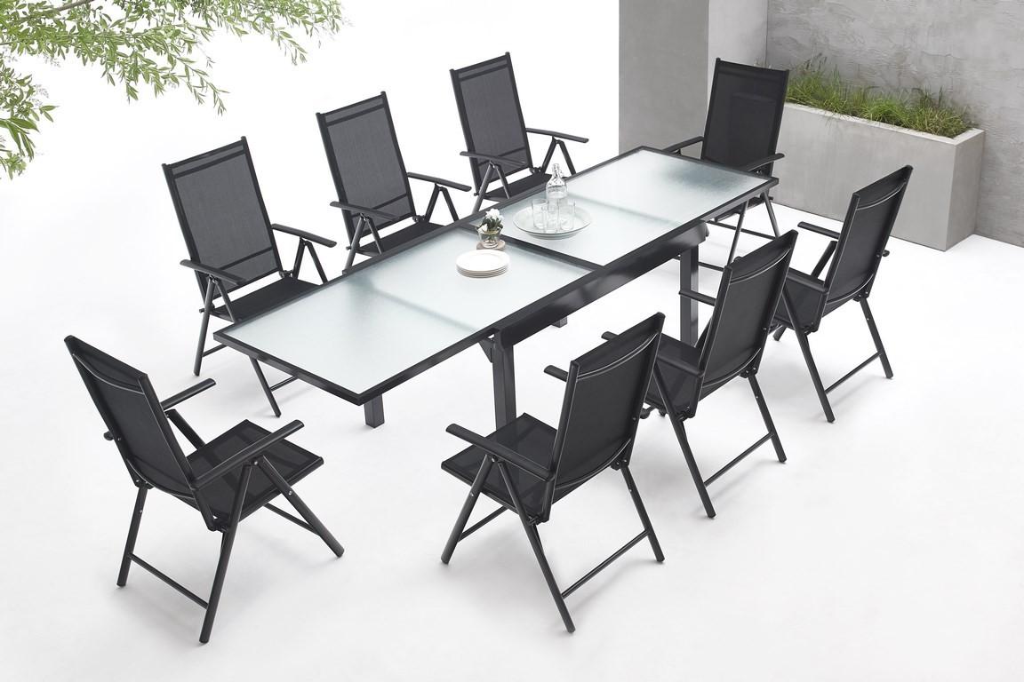 Garden furniture aluminium 8 seater Milano | BOBOCHIC ®