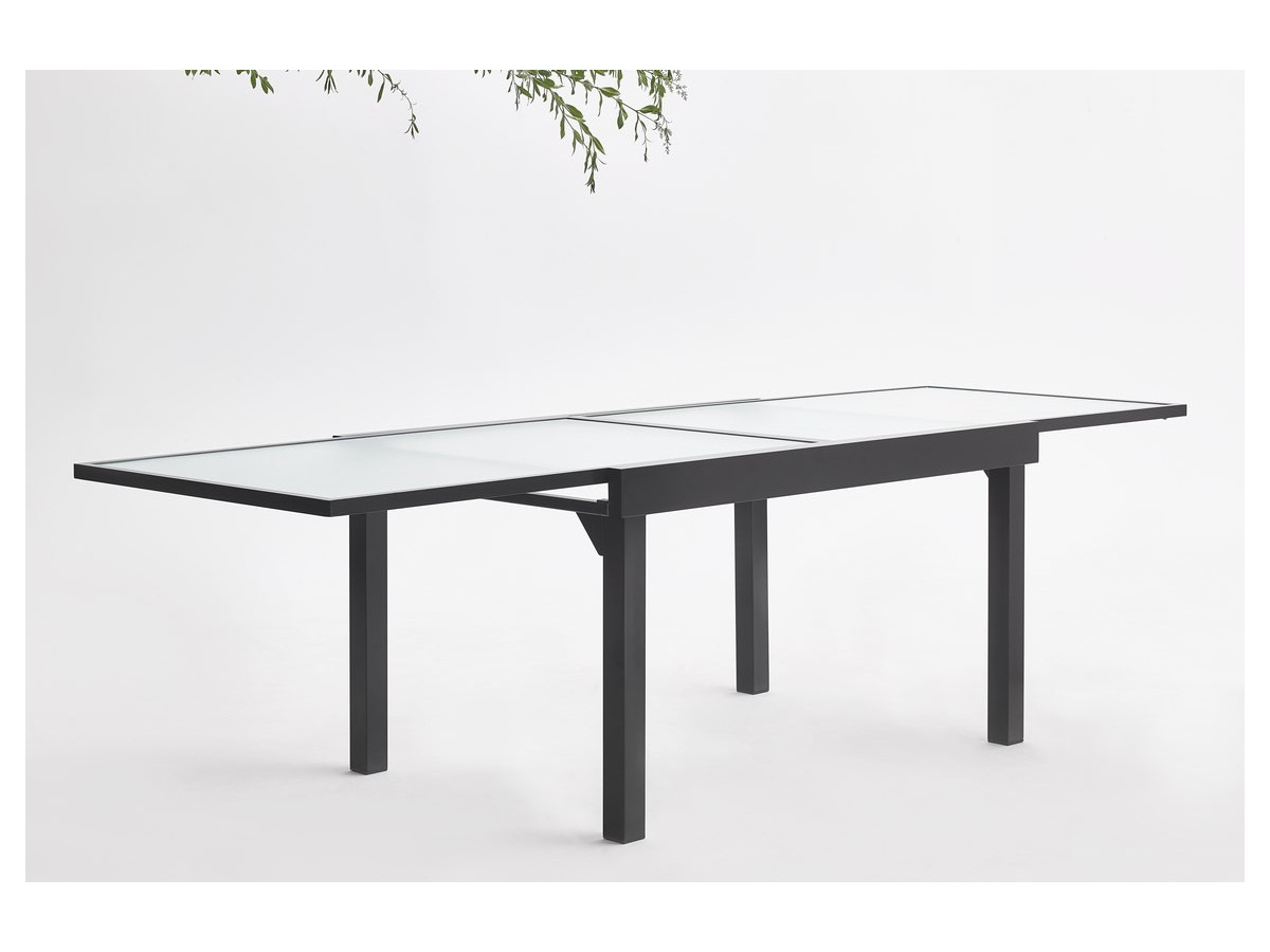 salon de jardin en aluminium 8 places milano bobochic paris. Black Bedroom Furniture Sets. Home Design Ideas