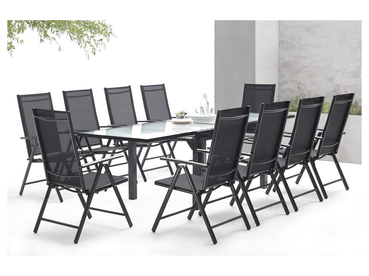 salon de jardin en aluminium 10 places milano bobochic paris. Black Bedroom Furniture Sets. Home Design Ideas