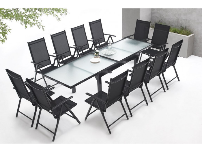 Garden furniture aluminium 12 seater Milano