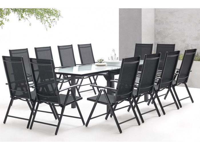 salon de jardin en aluminium 12 places milano bobochic. Black Bedroom Furniture Sets. Home Design Ideas