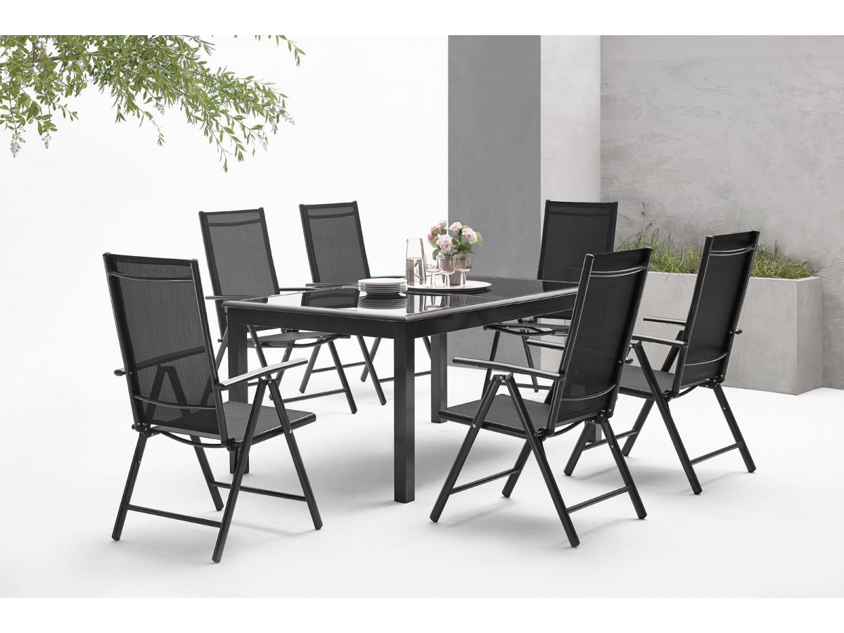 salon de jardin aluminium 6 seater torino bobochic. Black Bedroom Furniture Sets. Home Design Ideas