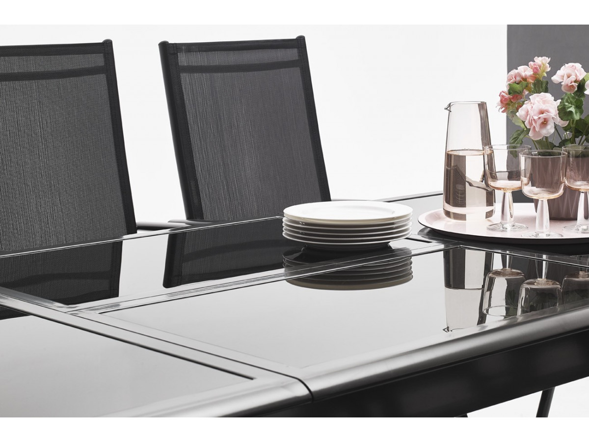 salon de jardin en aluminium 6 places torino bobochic paris. Black Bedroom Furniture Sets. Home Design Ideas