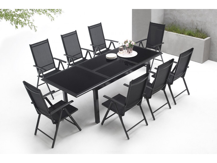 Garden furniture aluminium 8-seater Torino