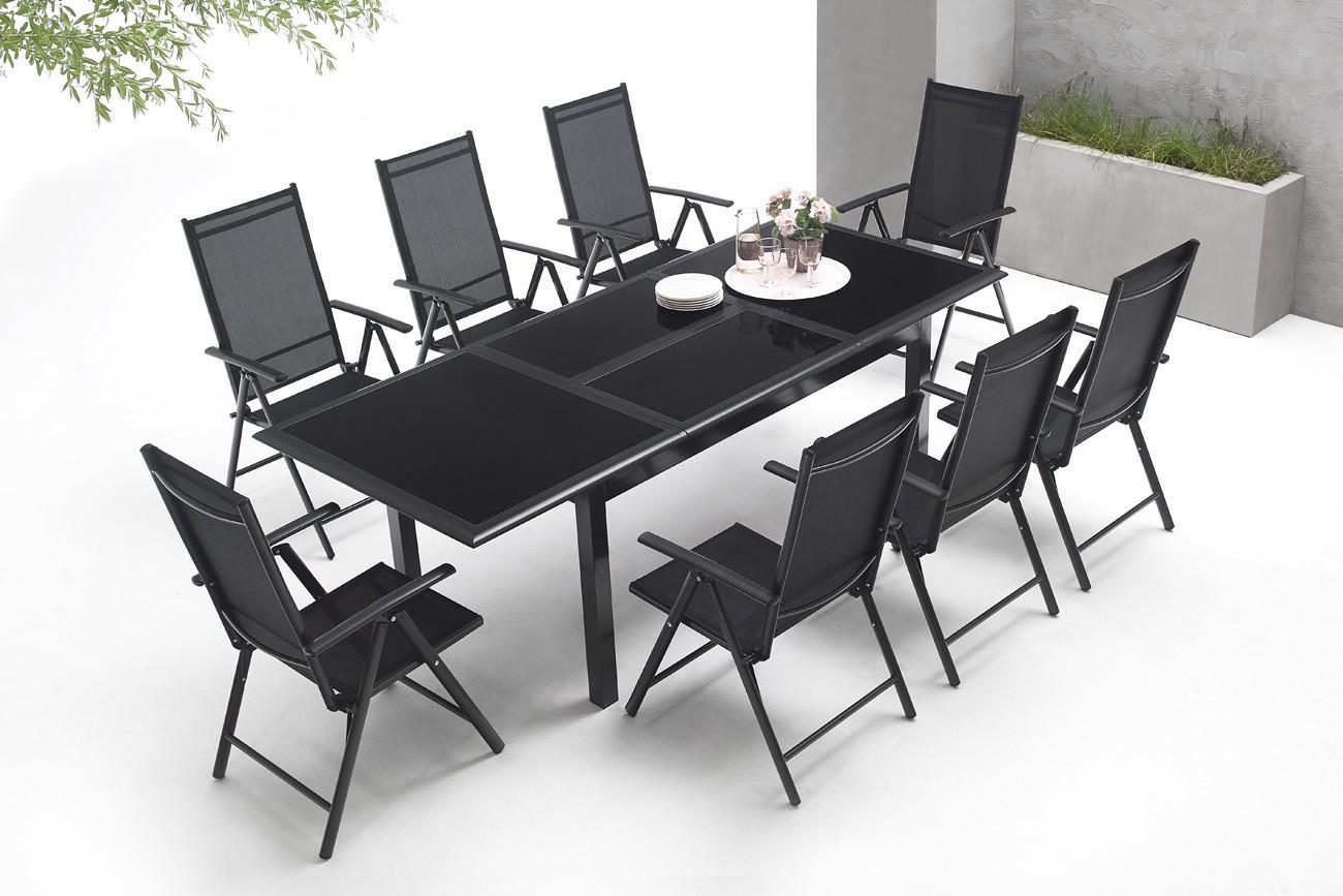 salon de jardin en aluminium 8 places torino bobochic paris. Black Bedroom Furniture Sets. Home Design Ideas
